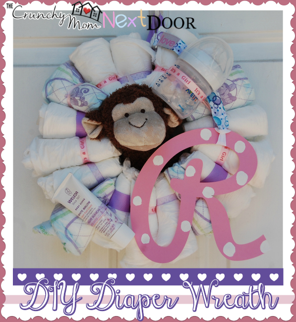 Diy Baby Shower Diaper Wreath The Quirky Mom Next Door